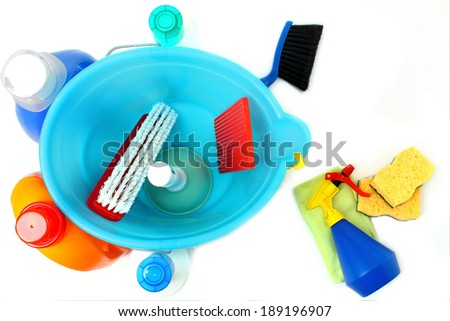 Bucket and cleaning - stock photo