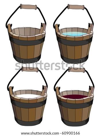 bucket.raster - stock photo