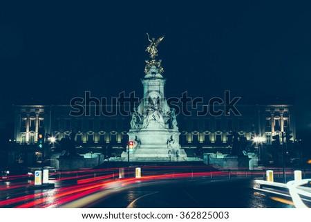 Buckingham Palace, Long Exposure, London.  - stock photo