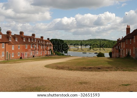Bucklers Hard in the New Forest, England, where Nelson's ships were built - stock photo