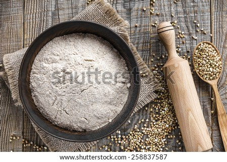 Buckwheat flour - stock photo
