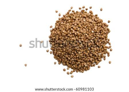Buckwheat isolated on white - stock photo