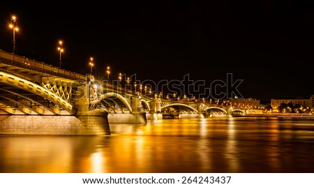 Budapest at night - stock photo
