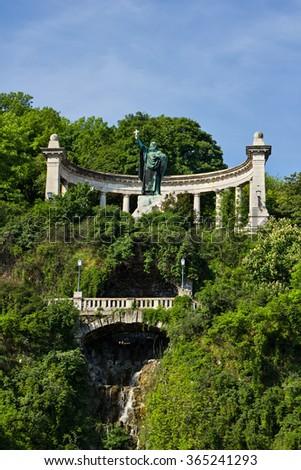 Budapest city landmark Szent Gellert monument in Hungary - stock photo