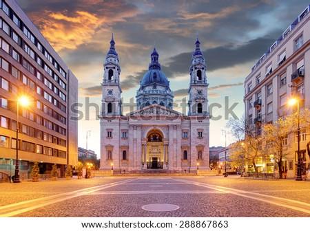 Budapest - St. Stephen basilica - stock photo