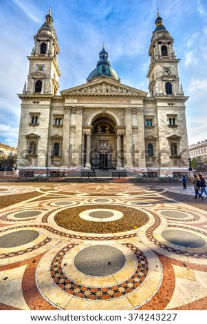 Budapest, St. Stephenâ??s Cathedral. Hungary - stock photo