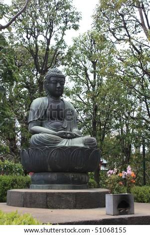 Buddha at Senso-ji - stock photo