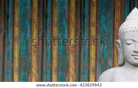 Buddha figure with lots of space - stock photo