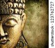 Buddha gold - stock photo