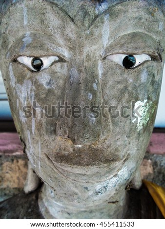 Buddha image, Buddha statue - stock photo