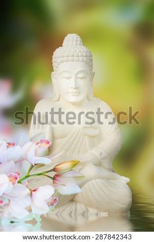 Buddha in meditation - stock photo