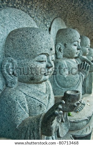 Buddha kids - stock photo