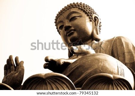 Buddha looking from above - stock photo