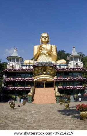 Buddha of Golden Temple, Dambulla, Sri Lanka - stock photo