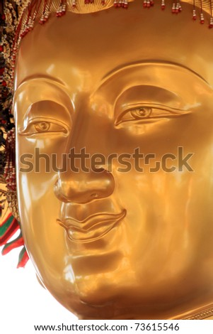 Buddha portrait close up of face - stock photo