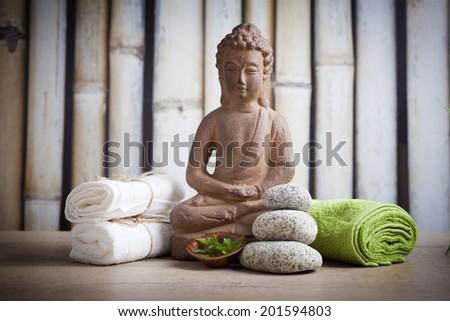 Buddha, relax time   - stock photo