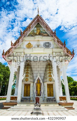 Buddha statue in church - stock photo