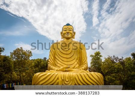 Buddha statue in Dhulikhel in Nepal - stock photo