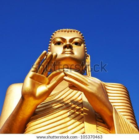 Buddha statue in Golden Temple in Dambulla, Sri Lanka - stock photo