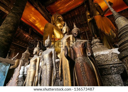 Buddha statue in temple - stock photo
