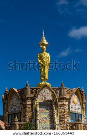Buddha statue in Temple Thailand. - stock photo