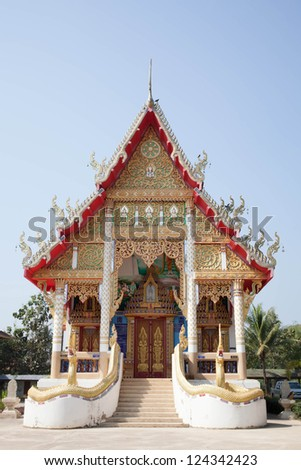 """Buddha statue in the Old Buddhist temple at Ancient City """"Phrae province"""" Thailand. - stock photo"""