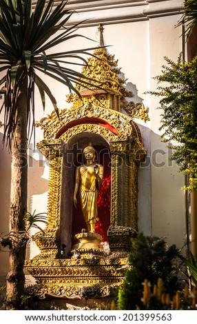 Buddha statue in Wat Phra That Doi Suthep in Chiang Mai, Thailand  - stock photo