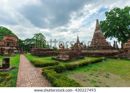 Buddha statue in Wat Si Chum at Sukhothai historical Park,Thailand-28 may 2016. - stock photo