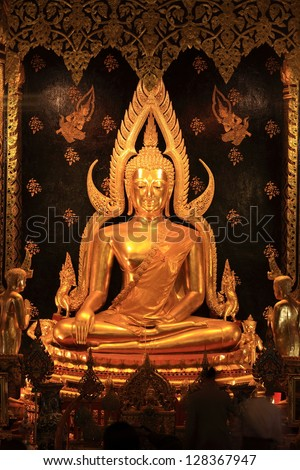 Buddha statue is a symbol of Lord Buddha. Buddha statue in Thailand has many beautiful and historic. - stock photo