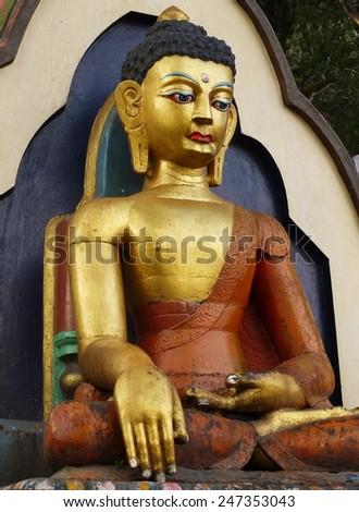 Buddha statue. Kathmandu, Nepal - stock photo
