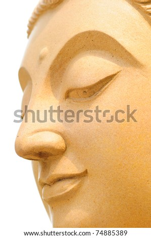buddha statue made with sands - stock photo