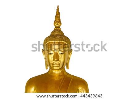 Buddha statue on white background - stock photo