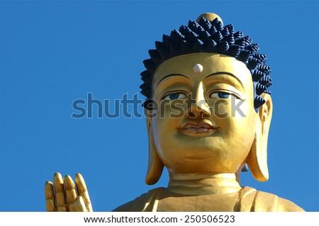 Buddha statue, surroundings of Ulan Battor. Mongolia - stock photo