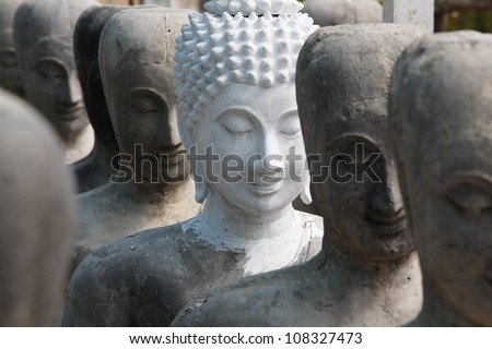 buddha statue,thailand. - stock photo