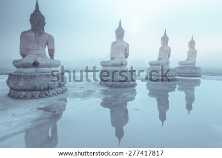 Buddha statue , Thailand - stock photo