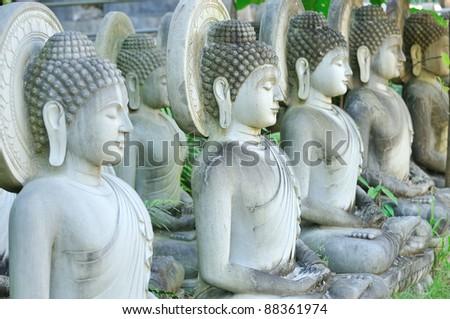 Buddha statue , Thailand - stock photo