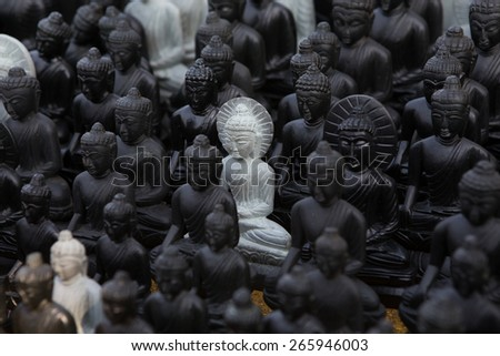 Buddha statues , Face of buddha - stock photo