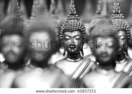 Buddha statues , Face of buddha,  Thailand ,Asia - stock photo