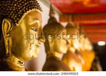 Buddha statues in Thailand - stock photo