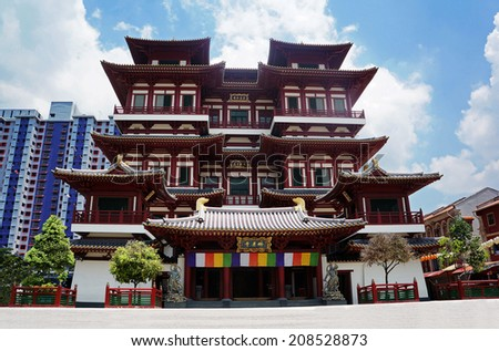 Buddha Tooth Relic Temple, Singapore - stock photo
