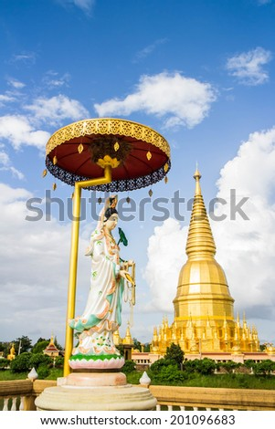 buddha wat pharbahthaytum lumphun Thailand,statue in Buddhist Thailand  temple or wat,  are public  domain  or treasure of Buddhism ,no restrict in copy or use . This photo  taken   these  conditions - stock photo