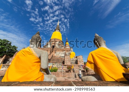 Buddha, which is as old as World Heritage. - stock photo