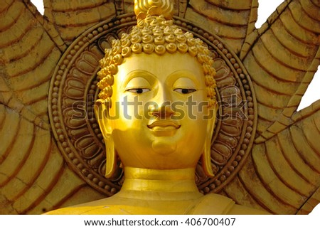 Buddha white background - stock photo