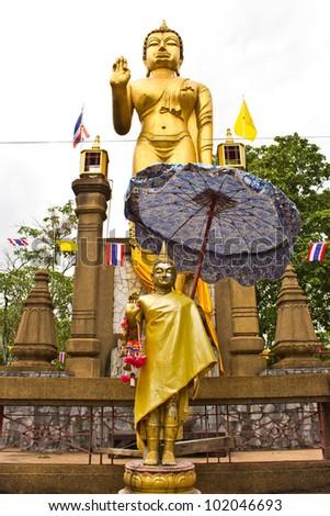 Buddhist monks and follower , - stock photo