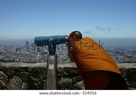 Buddhist Outlook - stock photo