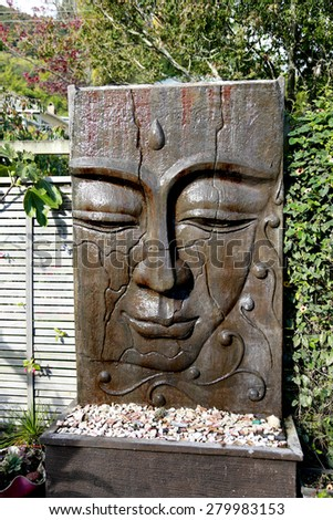 Buddhist sculpture. - stock photo