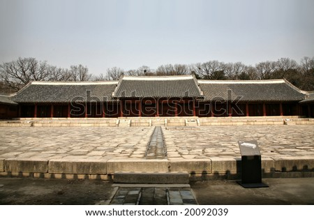 Buddhist Temple Compound(Release Information: Editorial Use Only. Use of this image in advertising or for promotional purposes is prohibited.) - stock photo