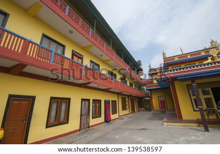 Buddhist temple for monks. - stock photo