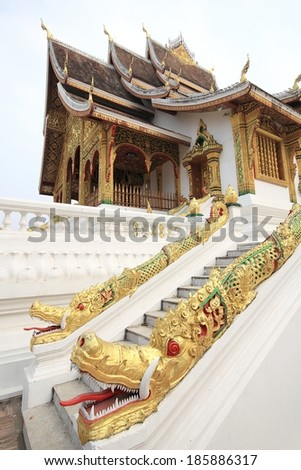 Buddhist temple in Luang Prabang,Laos  - stock photo