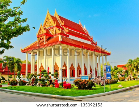 Buddhist temple in northern Thailand - stock photo